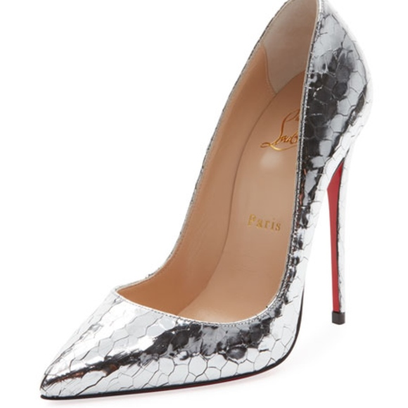 pretty nice eccb8 2ef89 So Kate 120mm Metallic Crackled Leather Red Sole